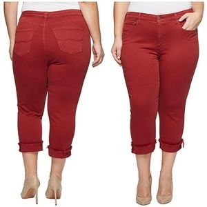 New Lucky Brand Emma High Rise Red Crop Jeans